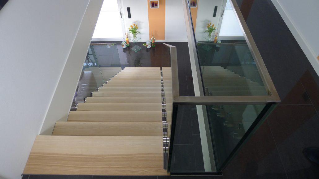 Brüstungsgeländer Aus Glas treppe 2 - treppenbau gerds